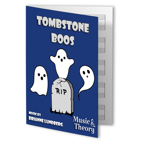 Tombstone Boos Halloween Piano Sheet Music