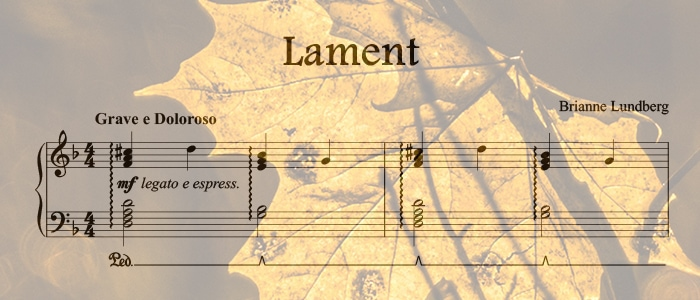 Lament: An Advanced Halloween Piano Solo