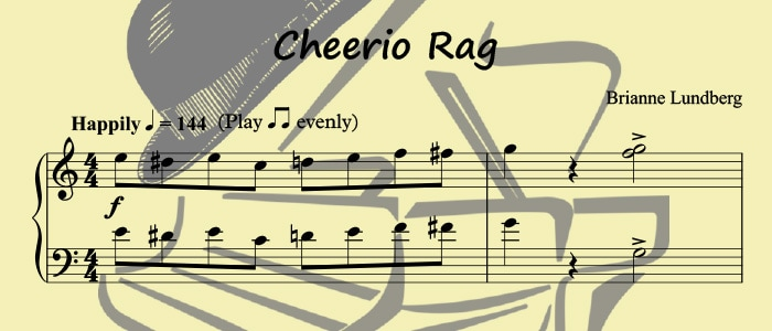 Cheerio Rag: An Easy Ragtime Piano Solo