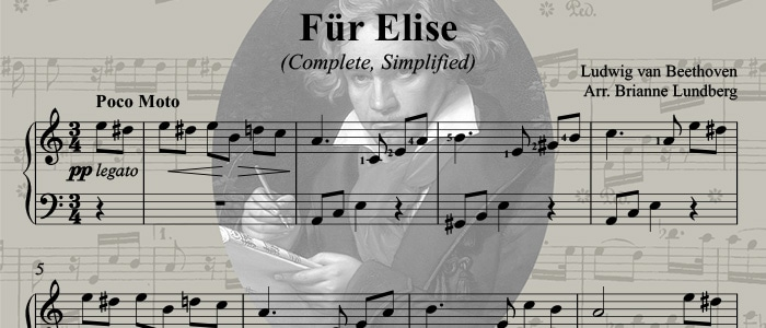 Für Elise: Simplified Easy Piano COMPLETE Classical Piano Arrangement